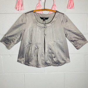2/$20✨metallic Silver Button-Up Womens Blazer